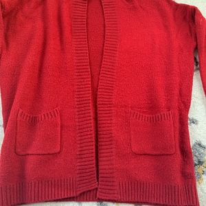 Charlotte Russe Red Cardigan Oversized Sweater